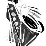 """dancing saxophone"" by alansmithart"