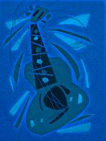 dancing guitar (blue)