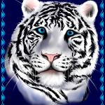 """White Tiger Face"" by Lotacats"