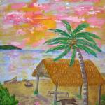 """""Pohnpei Sunset"""" by RachelScottArt"