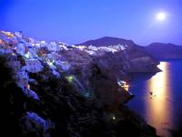 Santorini Moonrise