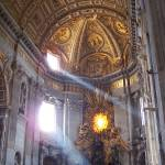 """Light in St. Peters Basilica"" by aswendener"