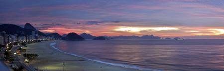 Sunrise over Copacabana Beach