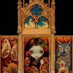 """""""Owl Butterfly Triptych"""" by strangeling"""