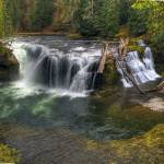 """0158 Lower Falls Panoramic--Upper Lewis River"" by vincentlouis"