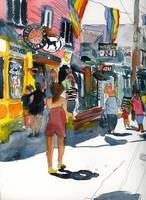 Woman on Commercial Street, Provincetown Art