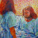 """John is baptizing Jesus with water"" by 1004art"
