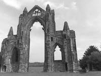 Guisborough Priory in black and white