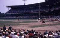 Clemente At Bat in Forbes Field
