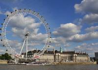 London Eye over the River Thames