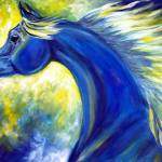 """""""Cobalt"""" by EquineArtTreasures"""