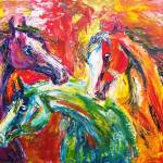 """""""Abstract Trio"""" by EquineArtTreasures"""