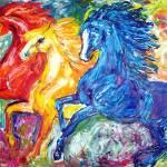 """Three Run Wild"" by EquineArtTreasures"
