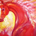 """Red Stallion"" by EquineArtTreasures"