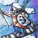 """""""The Flying Artist"""" by troyt55"""