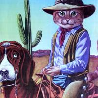"""Cowboy Cat"" by MikeCressy"