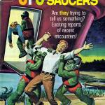 """UFO Flying Saucers Magazine Cover #4"" by MikeGravino"