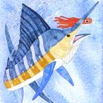 """Marlin With Orange Lure"" by FGerety"