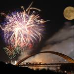 """""""Fireworks blue moon"""" by chrisallenz"""