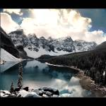 """Moraine Lake III (Bordered)"" by UponInfinity"