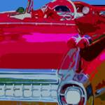 """RED 1959 CADDY CONVERTIBLE"" by AES"
