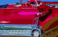 RED 1959 CADDY CONVERTIBLE