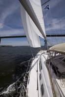 Sailing Under the Cooper River Bridge