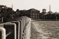 Charleston South Carolina Battery Waterfront Sepia