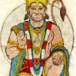 """hanuman watercolor"" by krauseda"