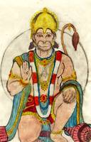 hanuman watercolor