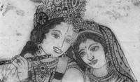 krishna and radha hardground