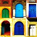 """tunesian doors"" by eschasgallery"