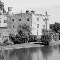 """Leeds Castle black and white"" by rhallam"