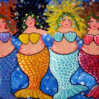 """Chubby Mermaids"" by reniebritenbucher"