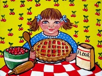 Little Girl Baking Pie
