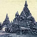"""CASTLES ON THE BEACH"" by keithdillondigitalartist"