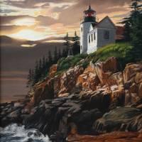 Acadia Light Art Prints & Posters by Roger Dullinger