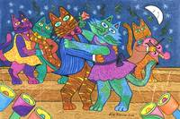'Cracked Cats' Go Dancing