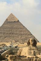 Giza pyramids and Sphinx 4