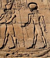 Pharaoh and god hieroglyph