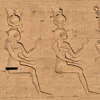 Hieroglyphs at Edfu Temple 4