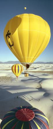 Hot Air Balloons over White Sands, New Mexico