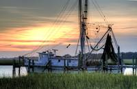 Shrimp Boat Sunset Charleston SC