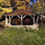 """High Rolls gazebo in autumn, High Rolls, NM"" by fotoguy53"