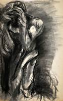 Study of Rodin's Burghers of Calais I