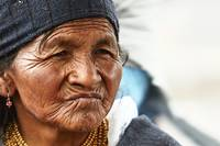 Native Woman at the Otevalo Market - Ecuador