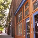 """orange store blue door"" by Tritch-Pix"