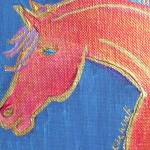 """Orange horse by Kim Wyatt"" by kimwyatt"