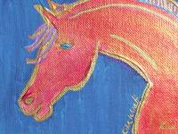 Orange horse by Kim Wyatt