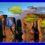 """Aqua Blue Henge"" by RaysImages"